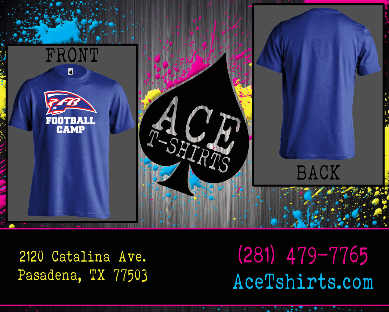 fbca shirts for the summer football camp 2015 � ace tshirts